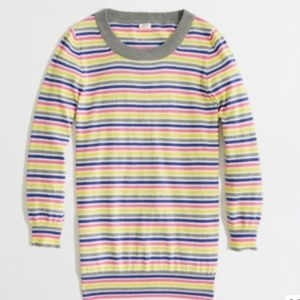 J. Crew Charley sweater in candy stripe XXS